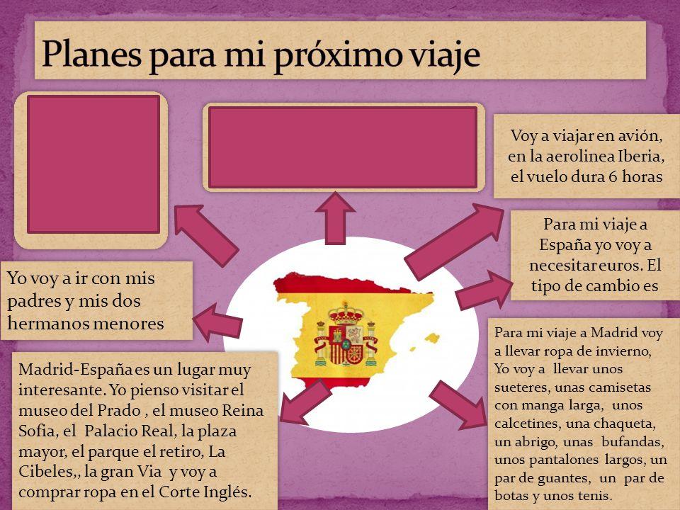 Yo voy a visitar España porque es un pais que tiene muchas ciudades interesantes.