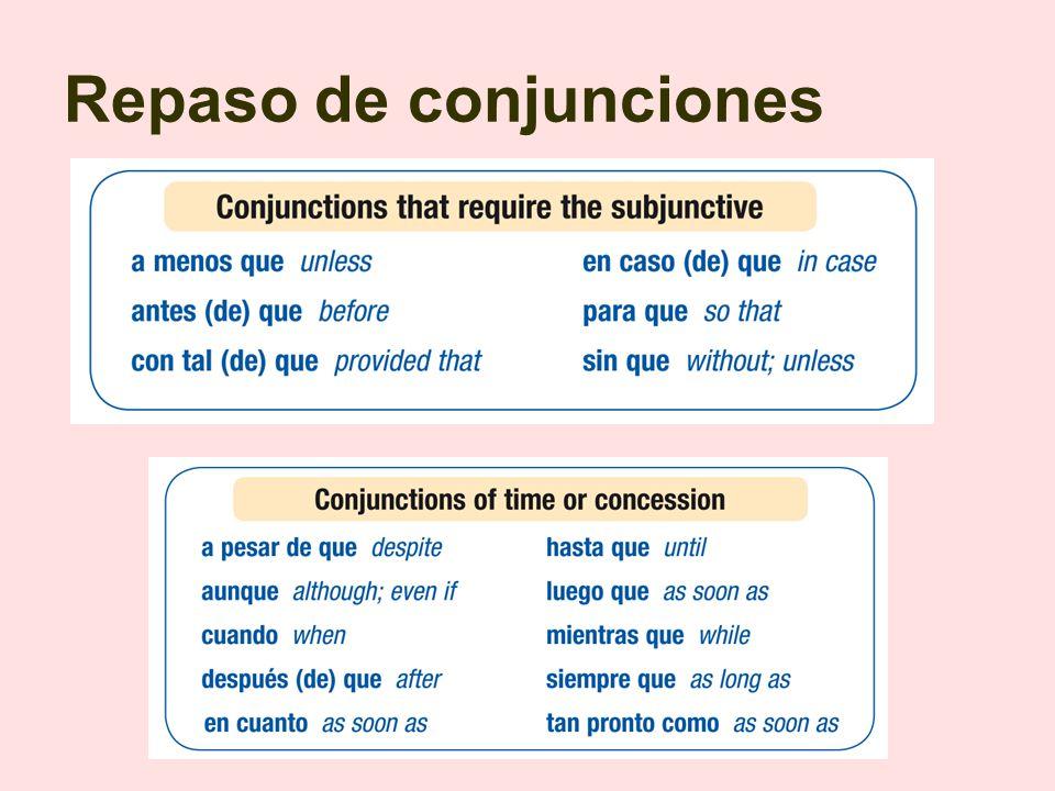 Repaso de conjunciones