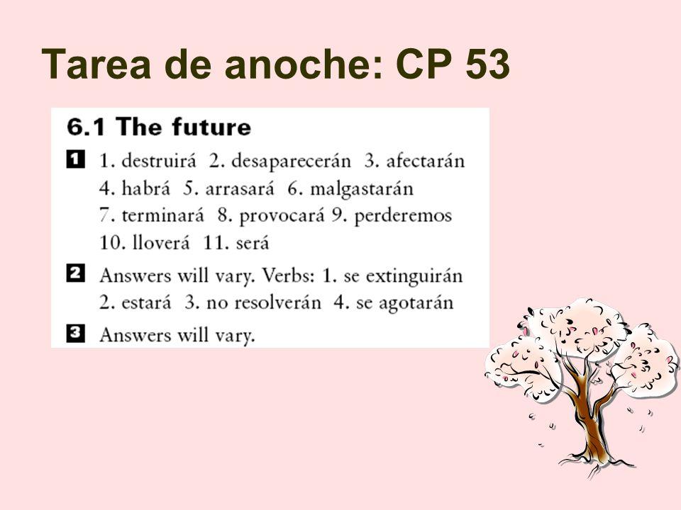 Objetivos Terminar lección del futuro en las págs.