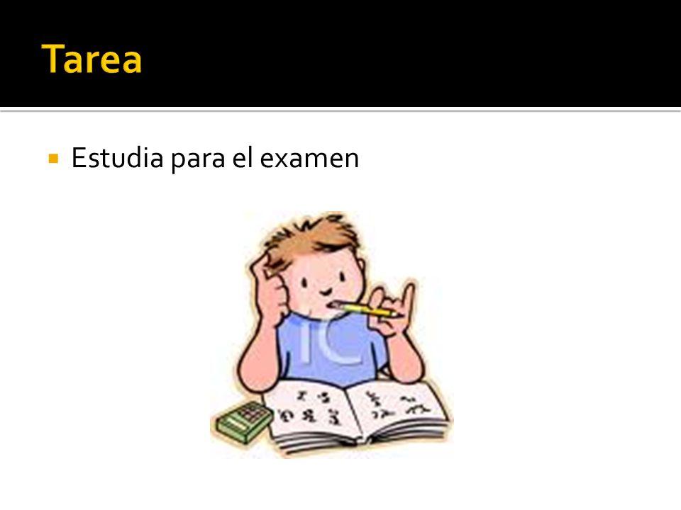 Estudia para el examen