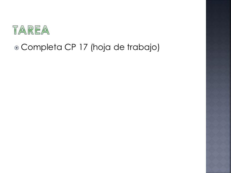 Completa CP 17 (hoja de trabajo)