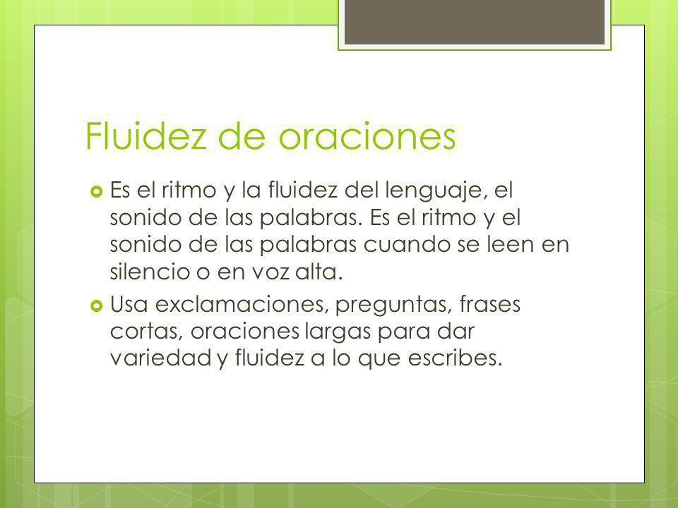 Convenciones Es la redacción correcta de la composiciónla ortografía, la gramática, el uso de párrafos, el uso de mayúsculas, y la puntuación.