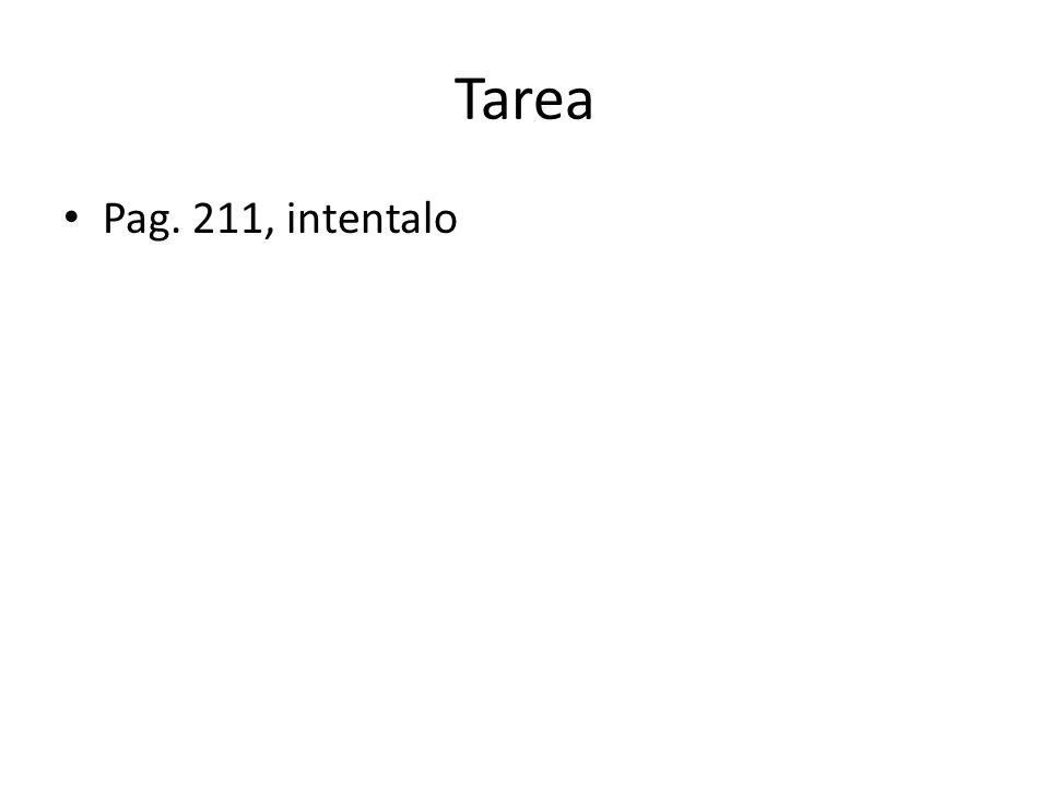 Tarea Pag. 211, intentalo