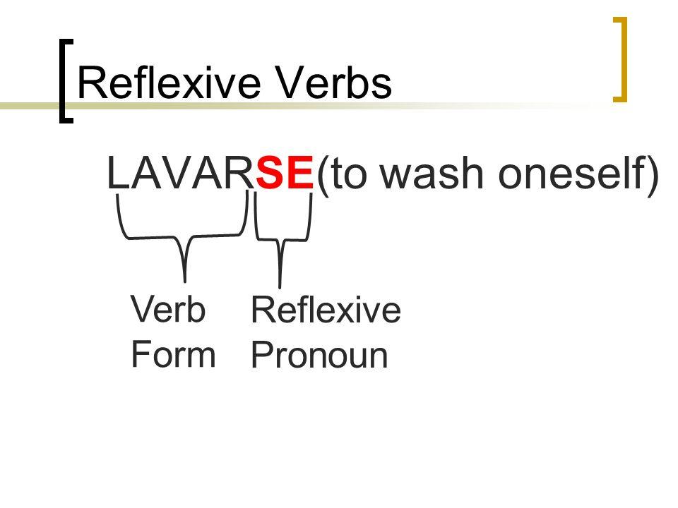 Tarea para el lunes 4 de noviembre: Completa la conjugación de los verbos reflexivos.