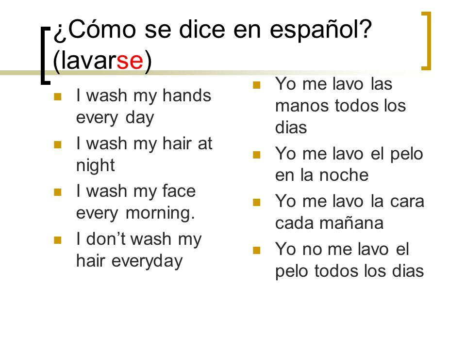 ¿Cómo se dice en español.