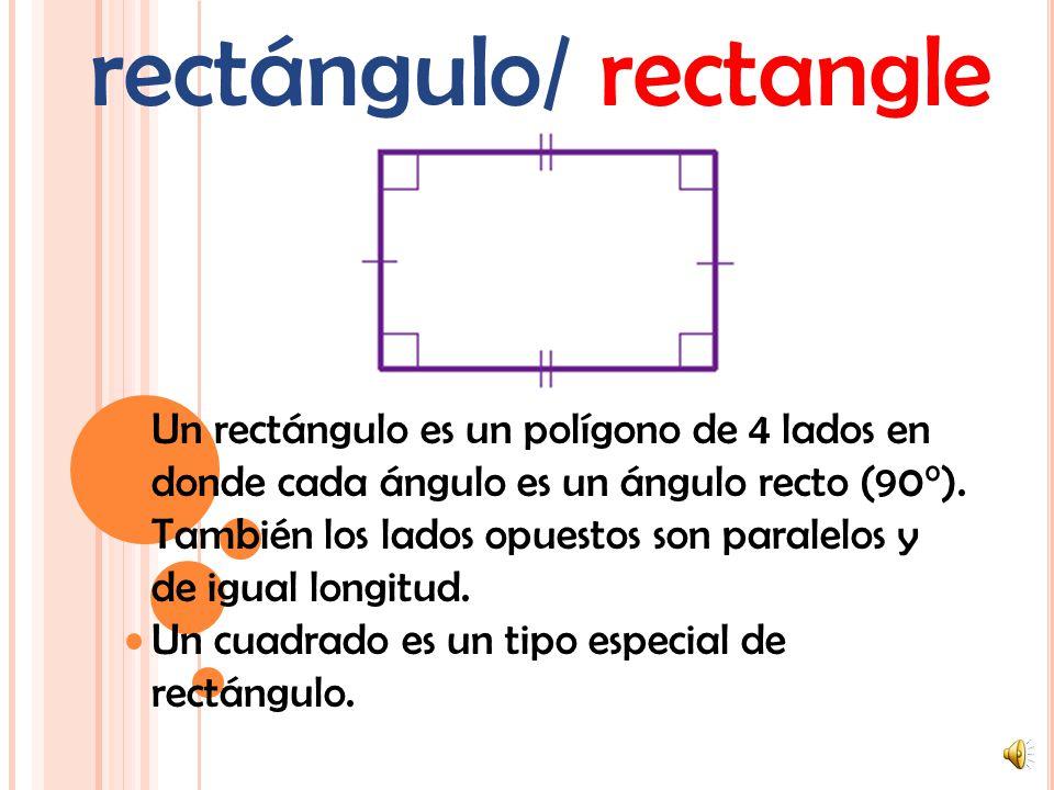 octágono/ octagon Un polígono de 8 lados (una figura plana de lados rectos).