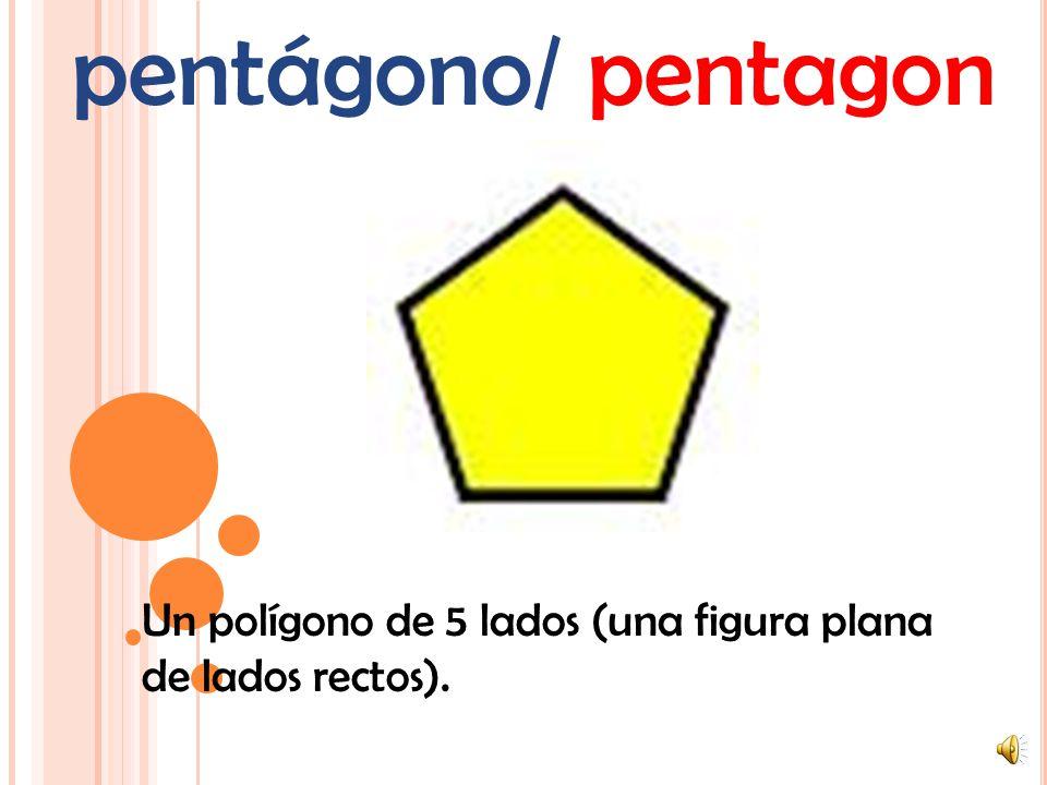 círculo/ circle Una figura de 2 dimensiones que se realiza dibujando una curva que está siempre a la misma distancia de un centro.