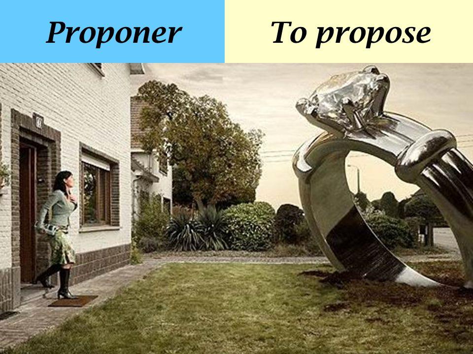 ProponerTo propose