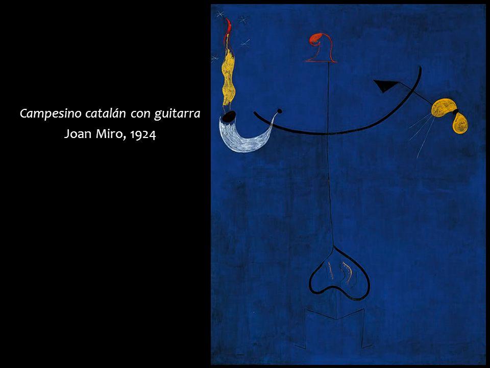 Campesino catalán con guitarra Joan Miro, 1924