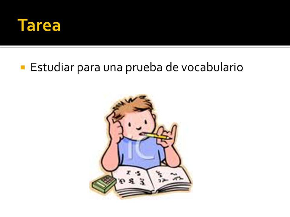 Estudiar para una prueba de vocabulario