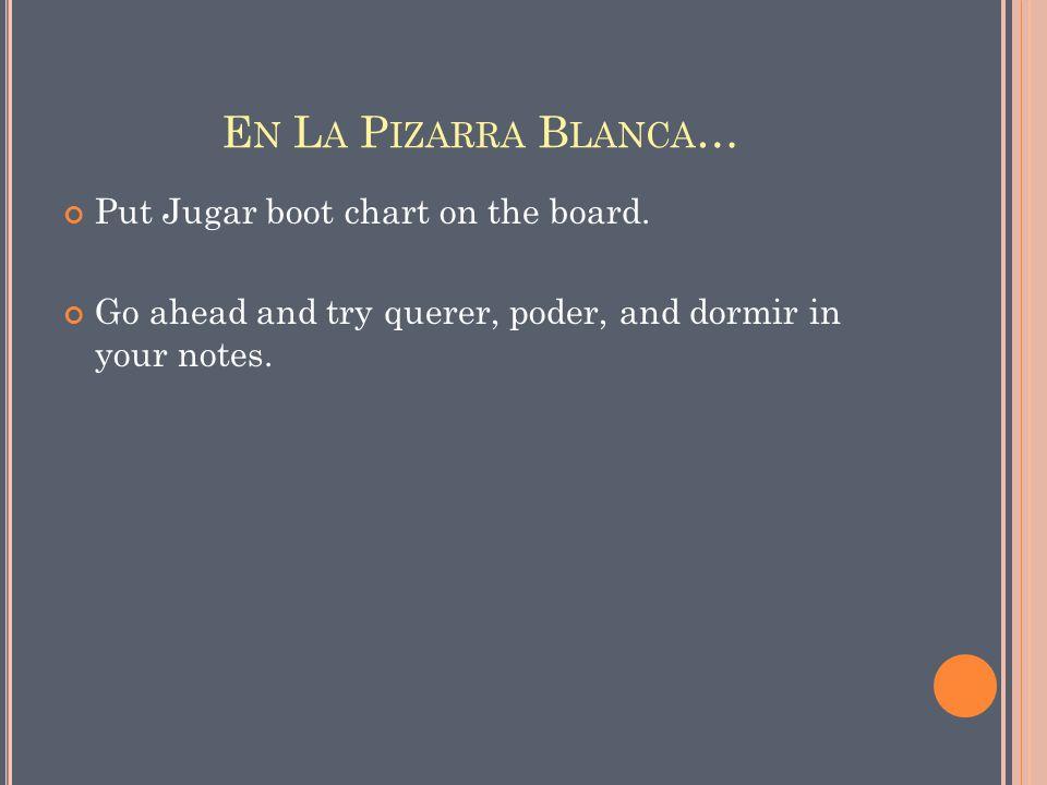 E JEMPLOS … Ella juega al tenis en la cancha.Marco y Julian quieren el helado para el postre.