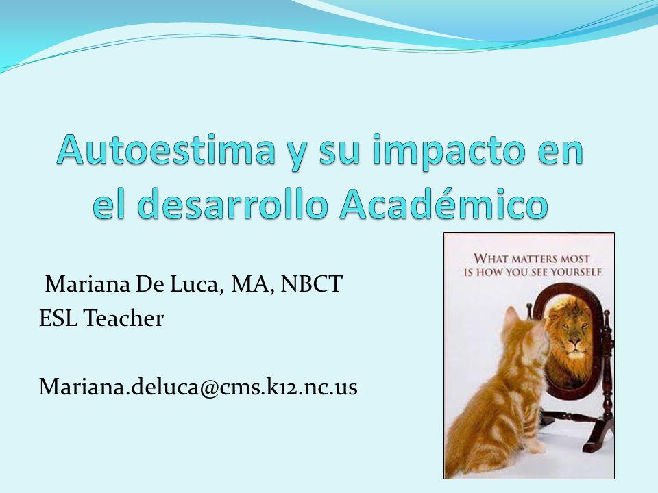 Mariana De Luca, MA, NBCT ESL Teacher Mariana.deluca@cms.k12.nc.us