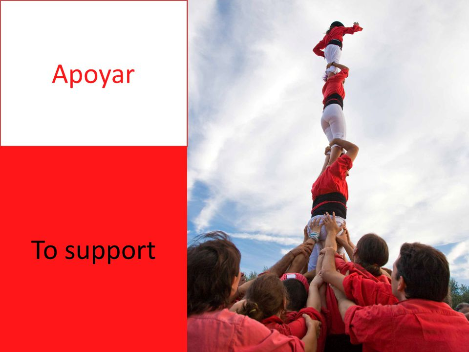 Apoyar To support