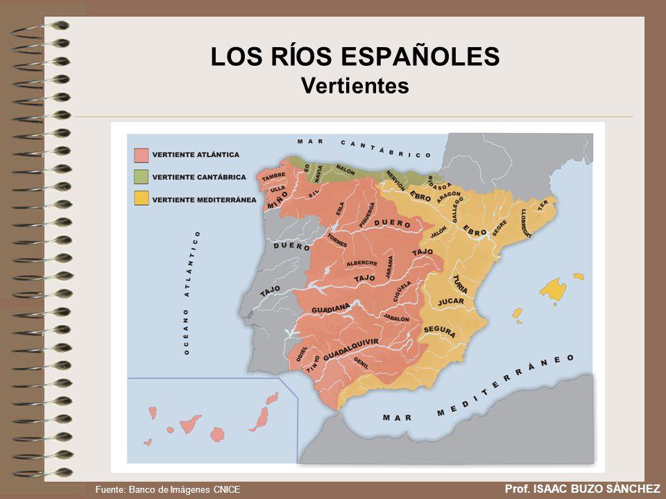 LOS RÍOS ESPAÑOLES Vertientes Prof. ISAAC BUZO SÁNCHEZ Fuente: Banco de Imágenes CNICE