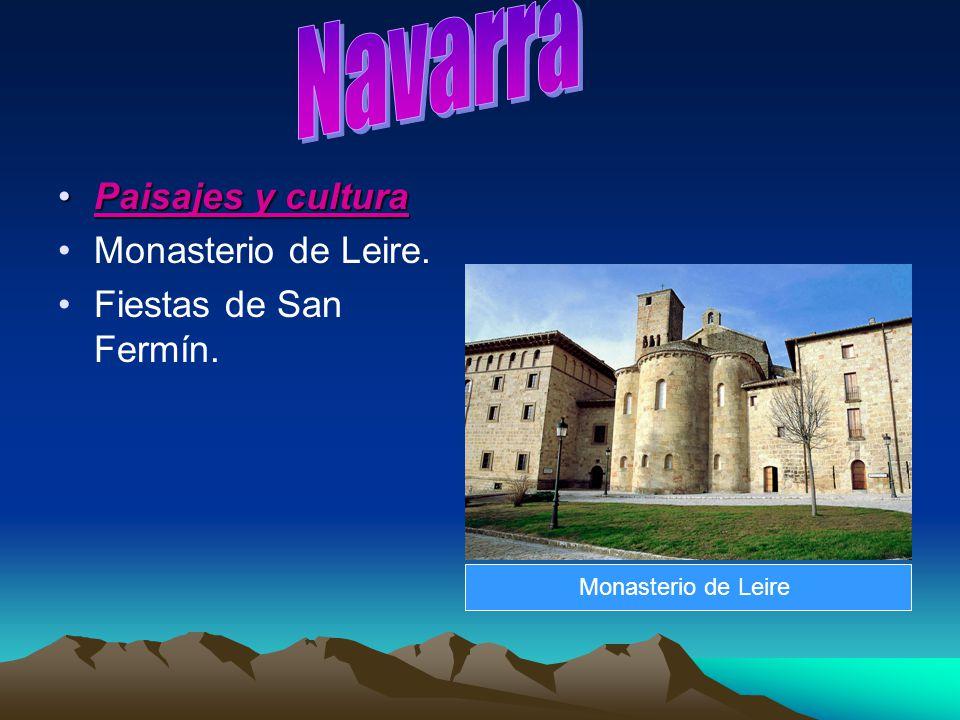 Paisajes y culturaPaisajes y cultura Monasterio de Leire. Fiestas de San Fermín. Monasterio de Leire