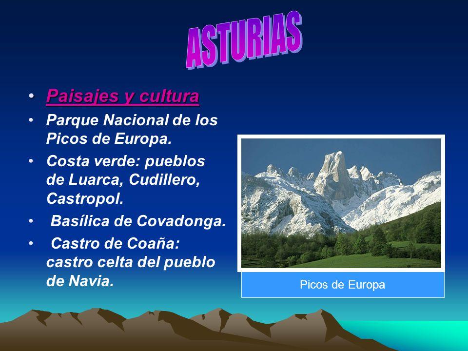 Paisajes y culturaPaisajes y cultura Parque Nacional de los Picos de Europa. Costa verde: pueblos de Luarca, Cudillero, Castropol. Basílica de Covadon