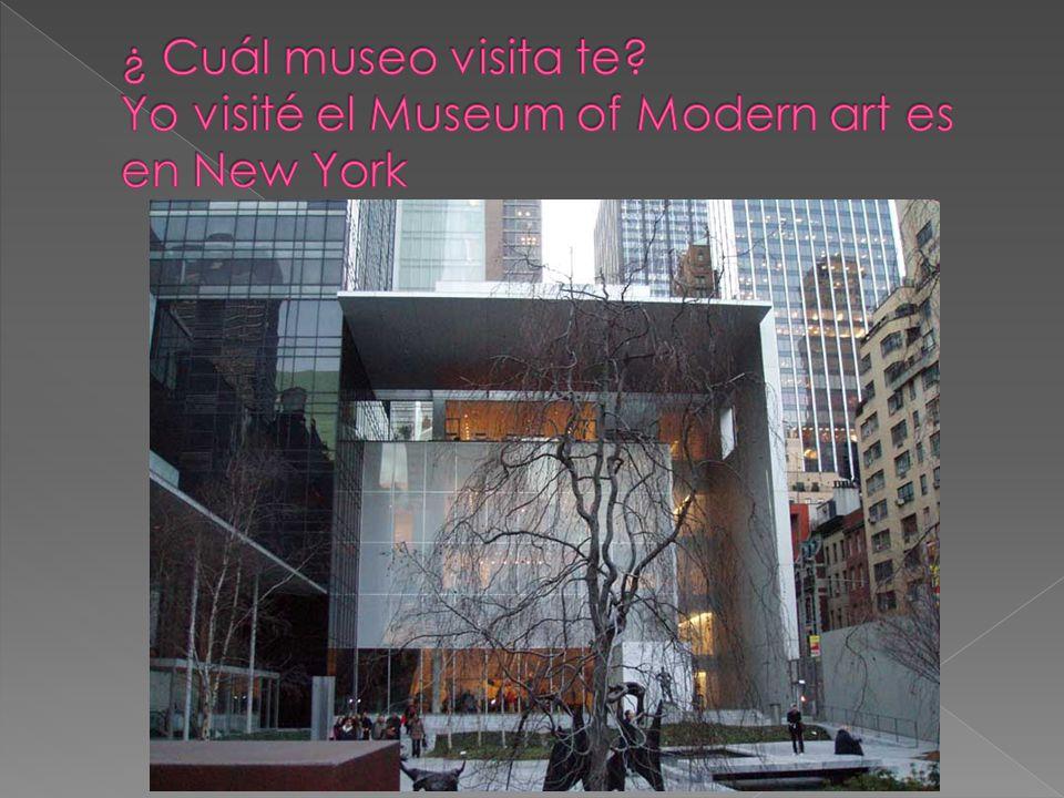 luego fuimos al museo en un autobús Llegamos al New York en avión como también hemos dejado en autobús