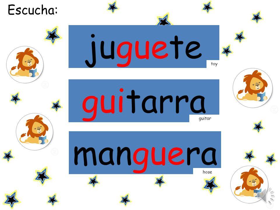 mamá Escucha: juguete guitarra toy manguera guitar hose