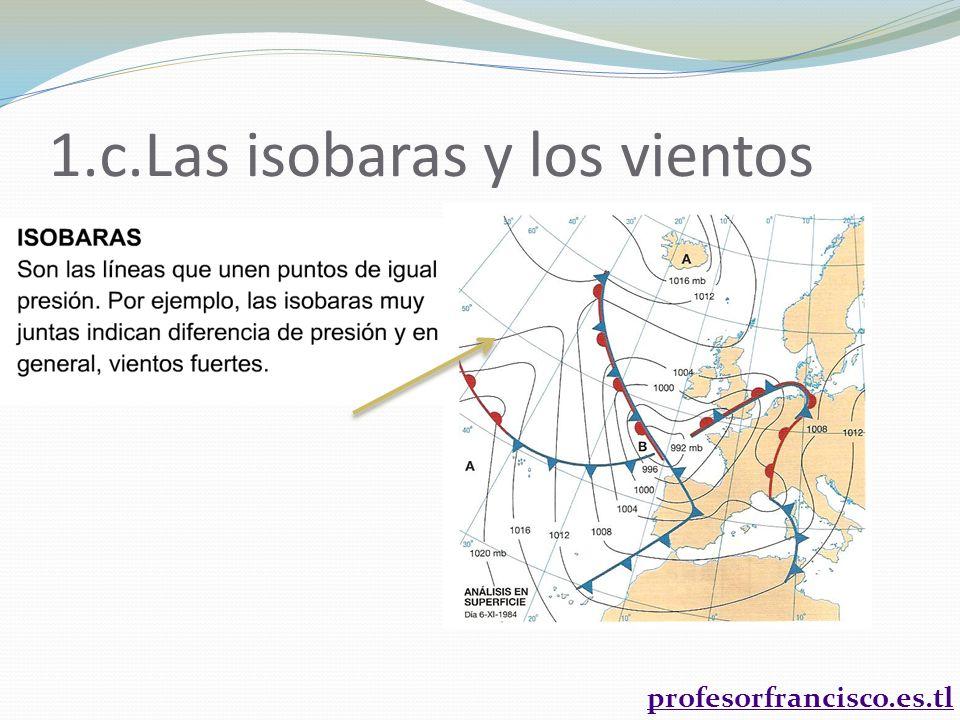 profesorfrancisco.es.tl 1.c.Las isobaras y los vientos