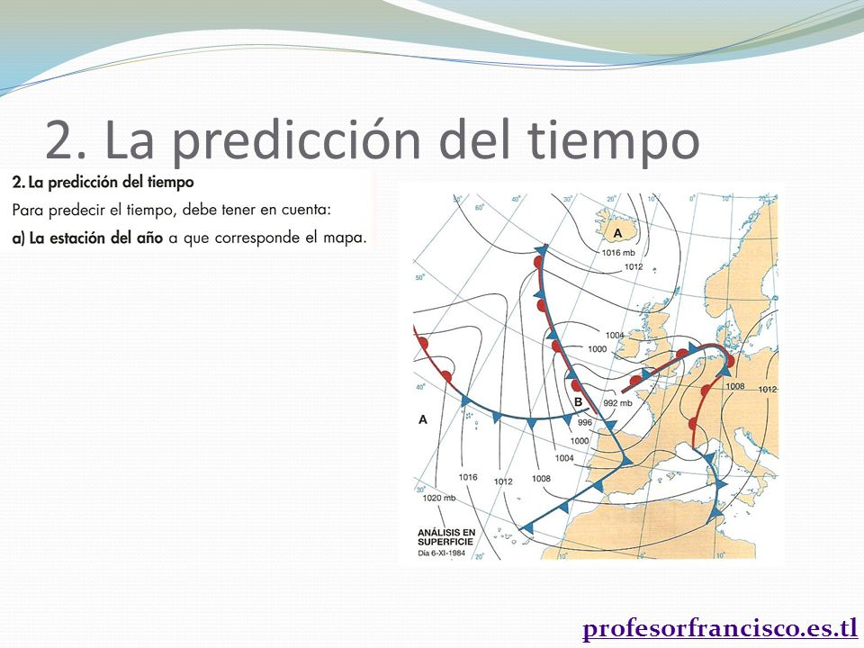 profesorfrancisco.es.tl 2. La predicción del tiempo