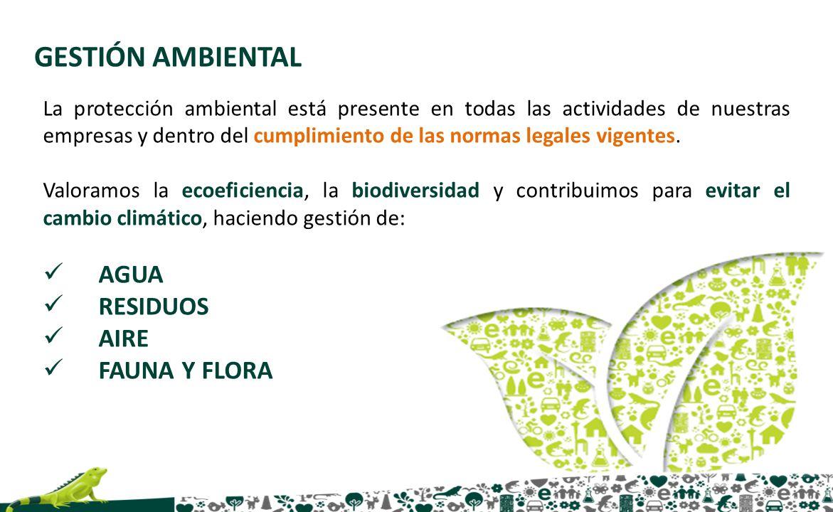 La protección ambiental está presente en todas las actividades de nuestras empresas y dentro del cumplimiento de las normas legales vigentes. Valoramo