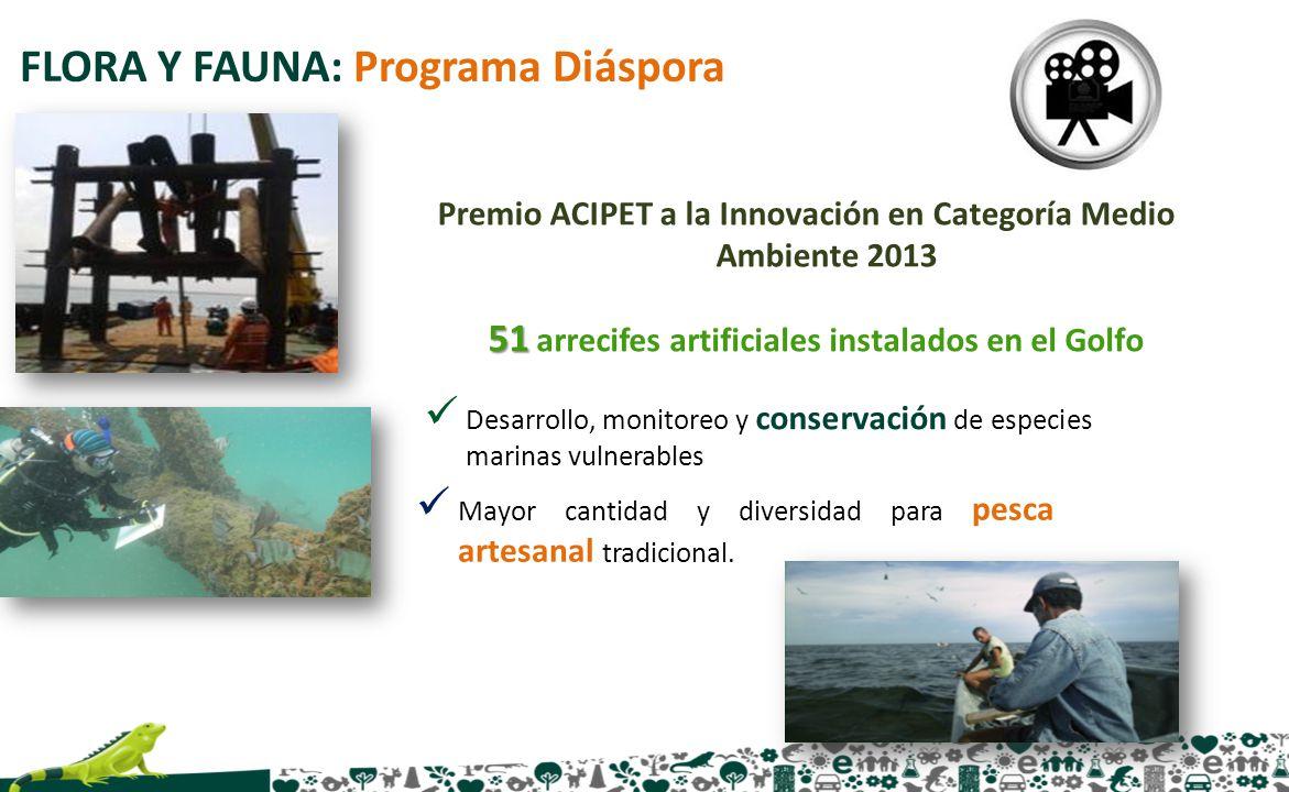 FLORA Y FAUNA: Programa Diáspora Desarrollo, monitoreo y conservación de especies marinas vulnerables Premio ACIPET a la Innovación en Categoría Medio