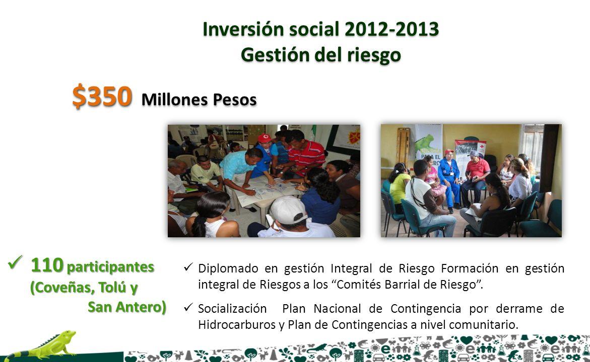 Diplomado en gestión Integral de Riesgo Formación en gestión integral de Riesgos a los Comités Barrial de Riesgo. Socialización Plan Nacional de Conti