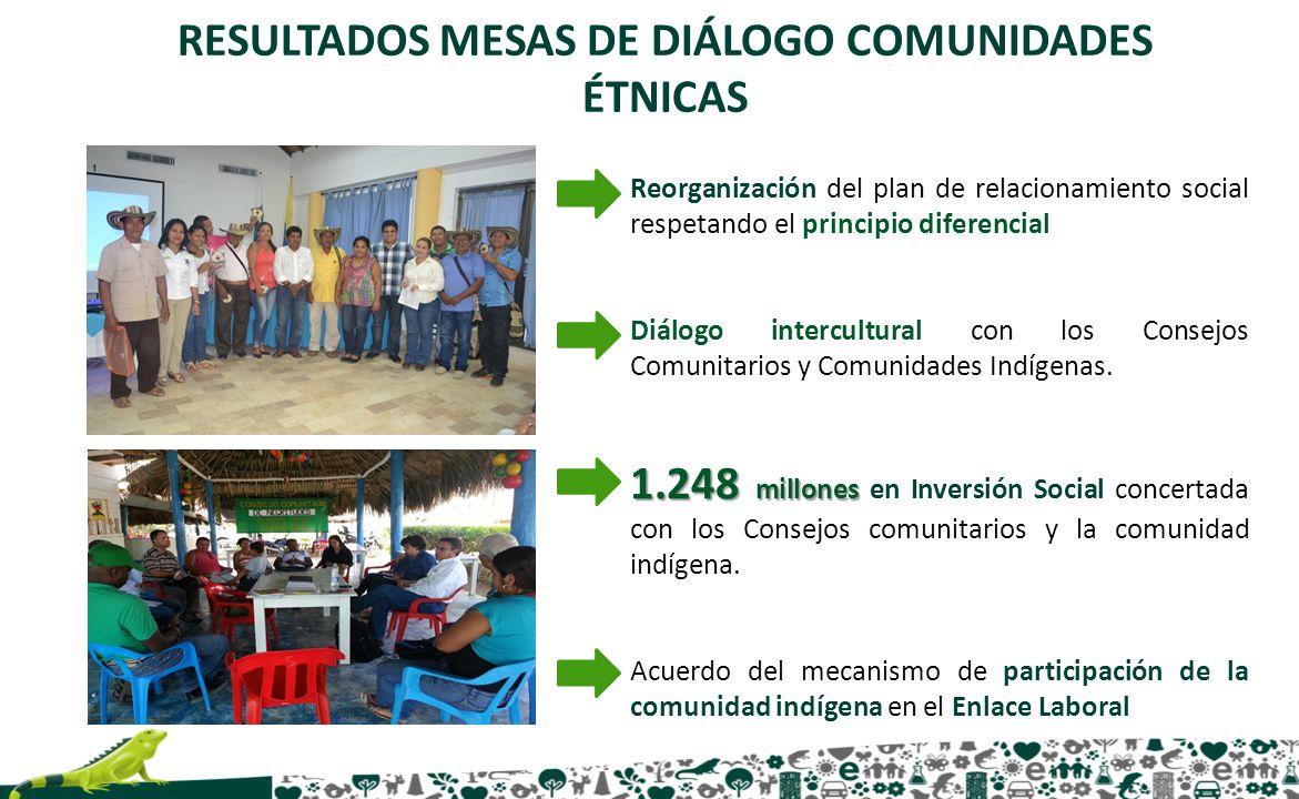 Reorganización del plan de relacionamiento social respetando el principio diferencial Diálogo intercultural con los Consejos Comunitarios y Comunidade