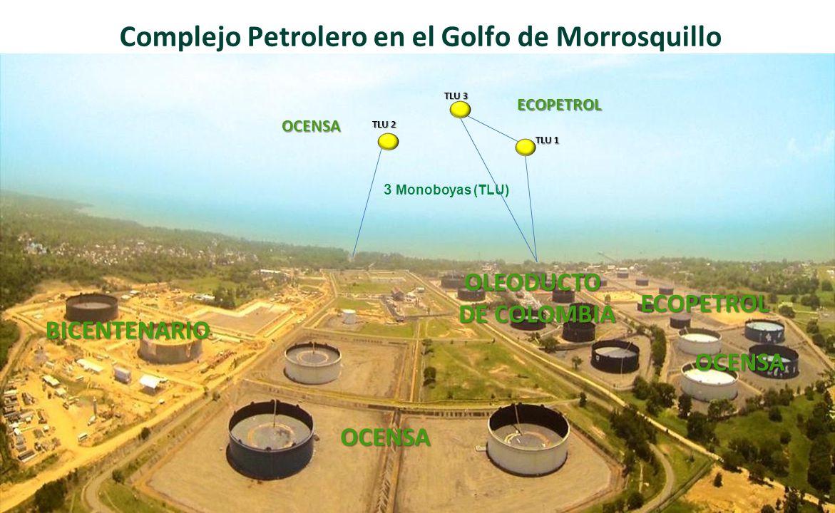 ECOPETROL OLEODUCTO DE COLOMBIA Instalaciones en Tierra Almacenamiento Capacidad de Almacenamiento 6.2 en tierra 6.2 millones de barriles OCENSA BICENTENARIO ECOPETROL