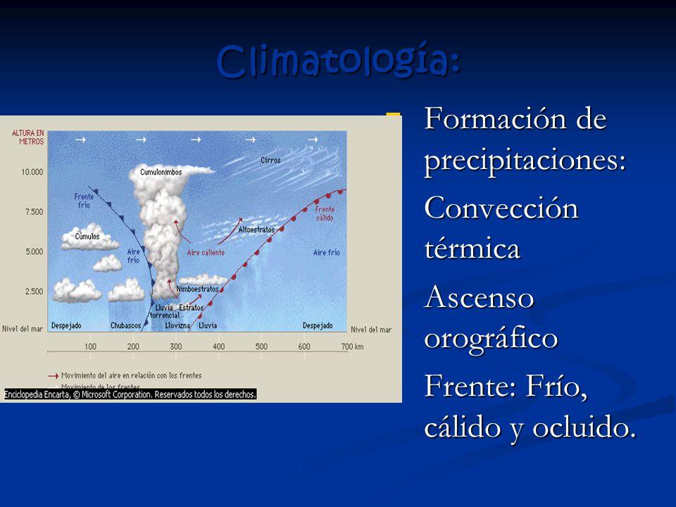 Climatología: Formación de precipitaciones: Formación de precipitaciones: 1.