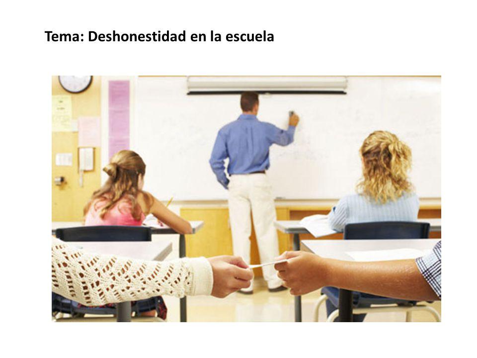 Tema: Deshonestidad en la escuela