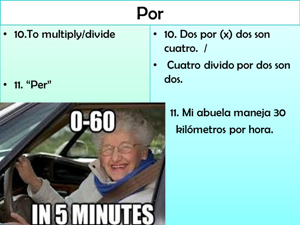 Por 10.To multiply/divide 11. Per 10.To multiply/divide 11.