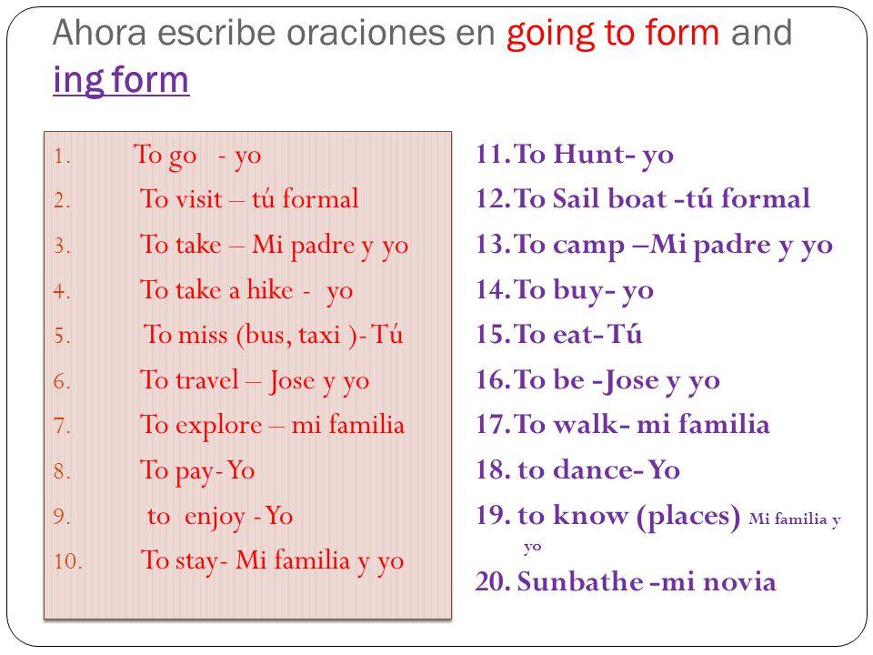Libro de verbos en Pasado 1. To see (VER) 2. To order (PEDIR) 3. To take (TOMAR/ SACAR) 4. To visit (VISITAR) 5. To get sick (ENFERMARSE) 6. To travel