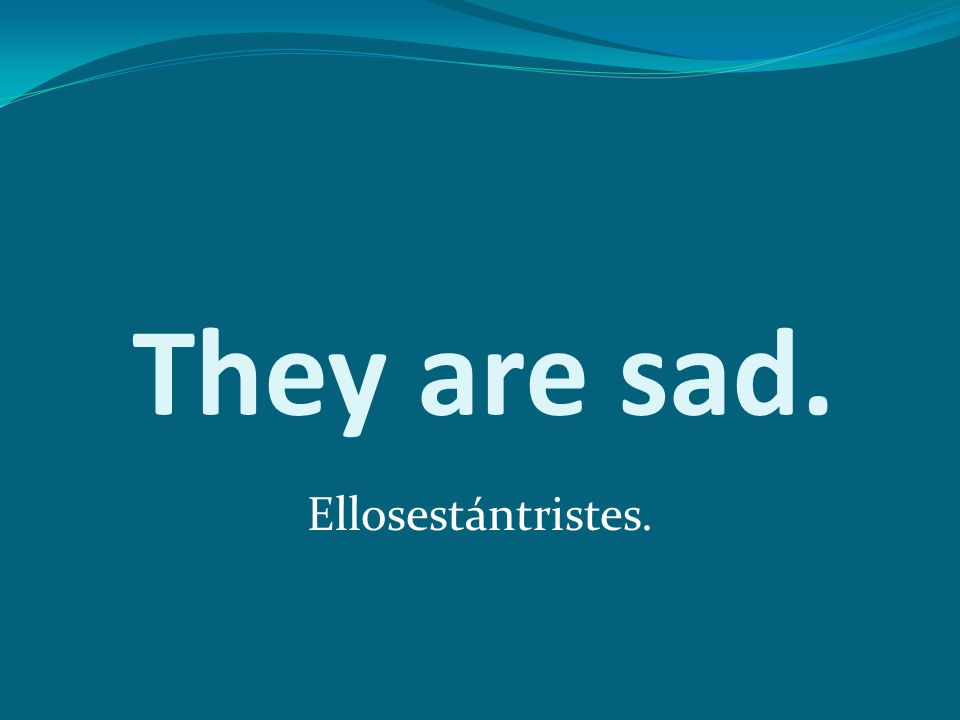 They are sad. Ellosestántristes.