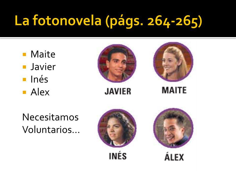 Maite Javier Inés Alex Necesitamos Voluntarios…