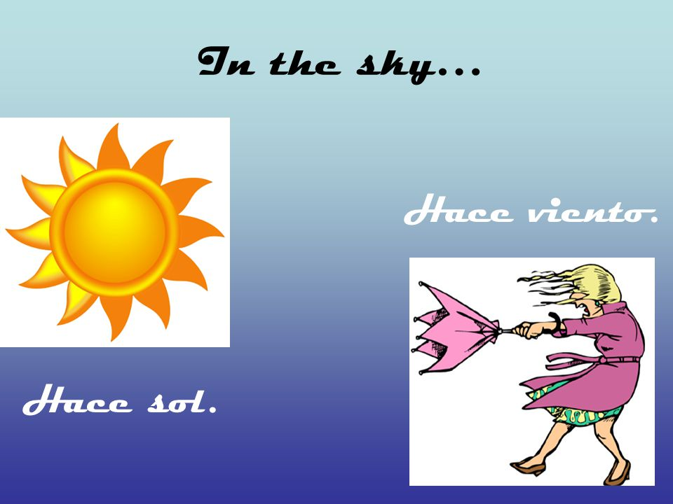 In the sky… Hace sol. Hace viento.