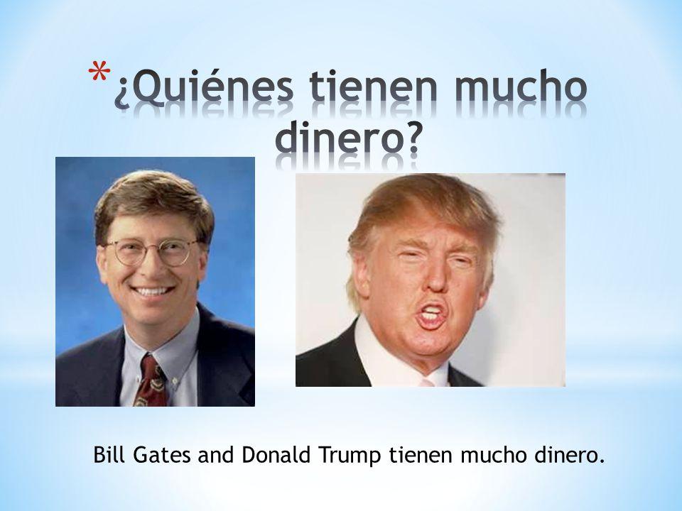Bill Gates and Donald Trump tienen mucho dinero.