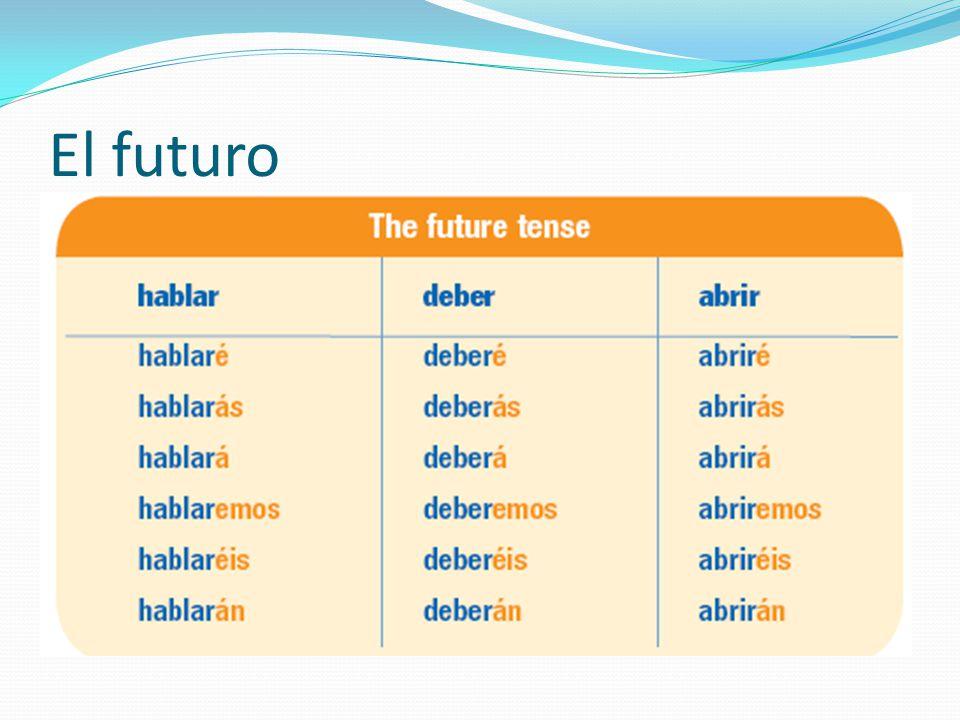 El futuro de verbos irregulares