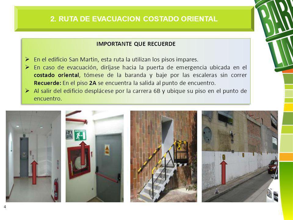 4 2. RUTA DE EVACUACION COSTADO ORIENTAL