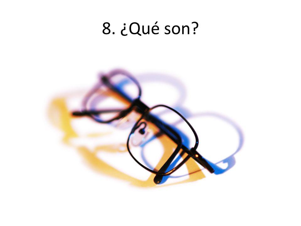 8. ¿Qué son