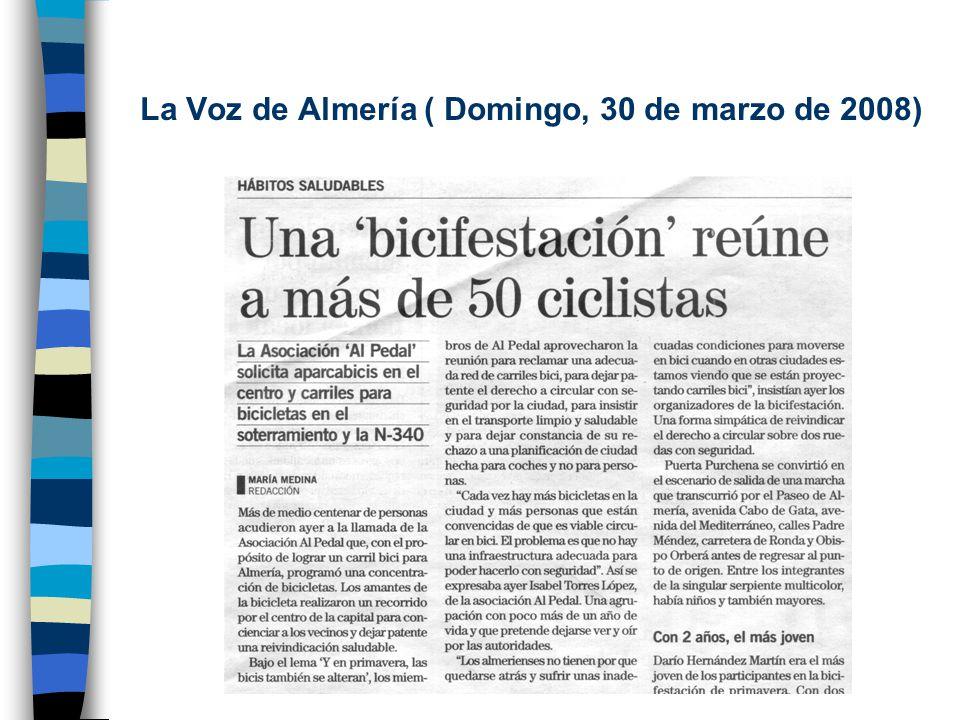 La Voz de Almería (Jueves, 3 de abril de 2008)