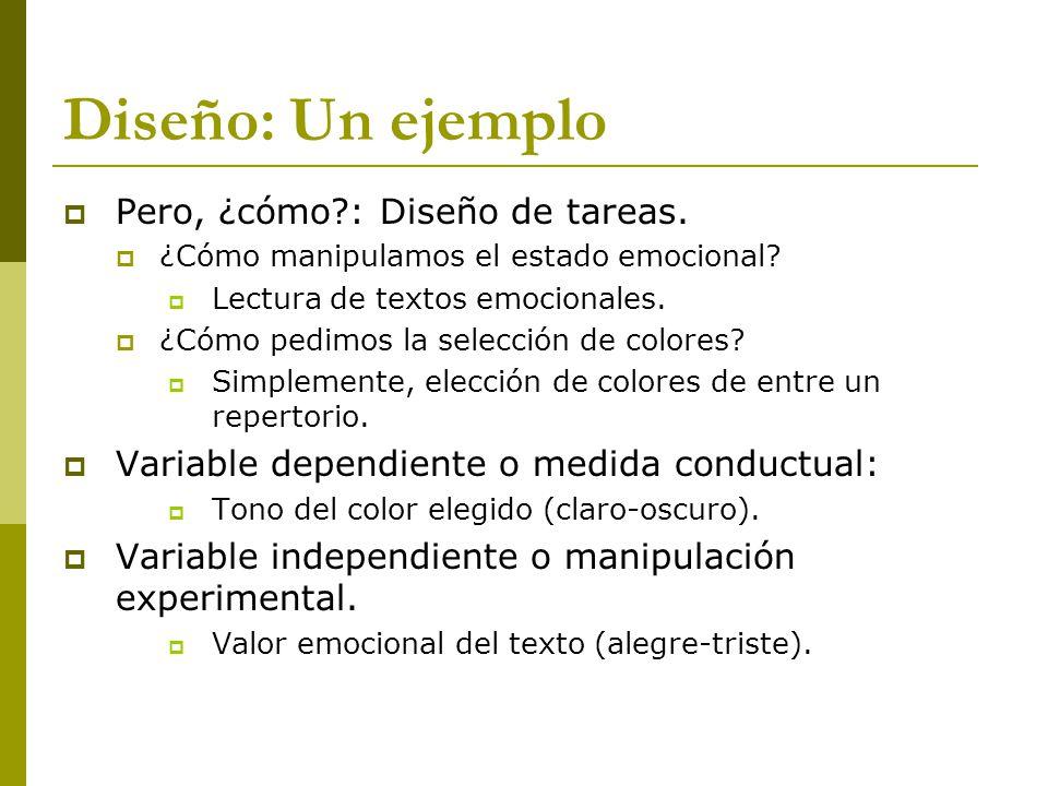 Diseño: Un ejemplo Pero, ¿cómo?: Diseño de tareas.
