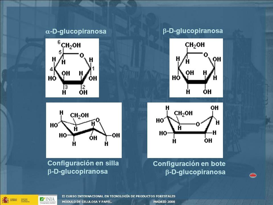 -D-glucopiranosa Configuración en silla -D-glucopiranosa Configuración en bote -D-glucopiranosa
