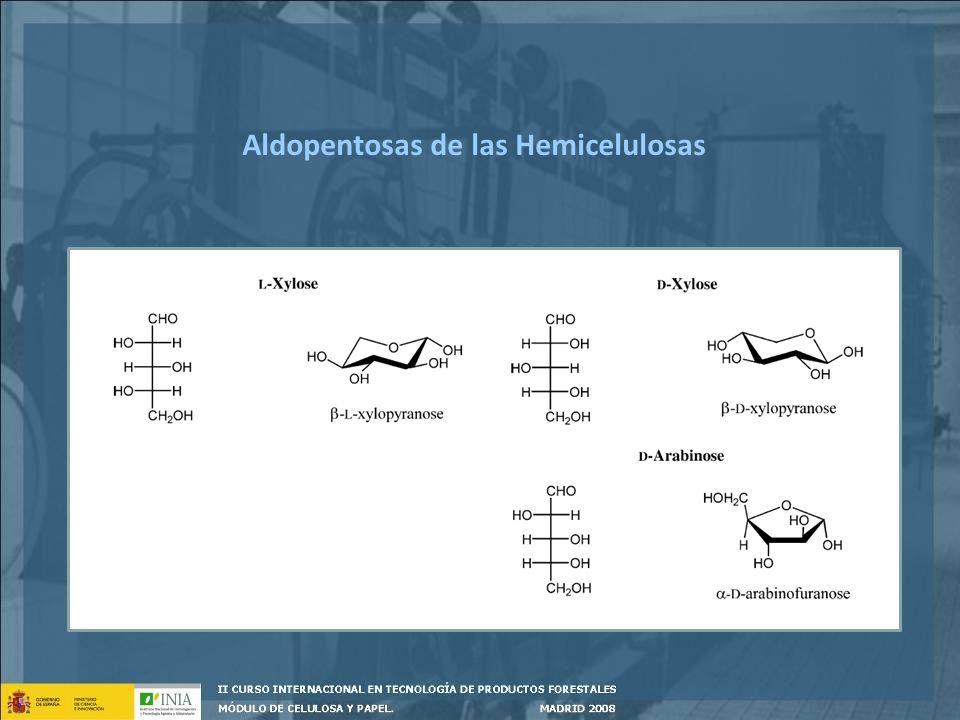Extractos Componentes que pertenecen a la pared celular de la madera Extraíbles en agua y en solventes orgánicos neutros 1 -4% en frondosas 4 - 10% en coníferas Influencian las propiedades de la madera (olor, color, resistencia a los microorganismos, etc) Generan subproductos de alto valor comercial; taninos, trementina, colofonia Tienen efectos negativos en el pulpeo: dificultan la cocción y el blanqueo, pitch _________Química