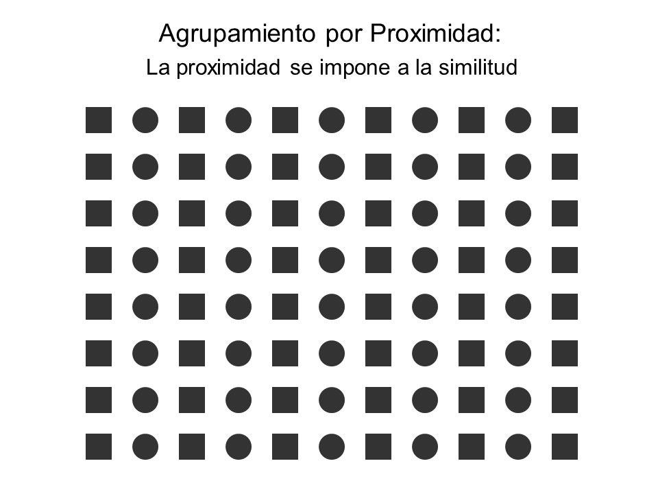 Agrupamiento por Proximidad: La proximidad se impone a la similitud