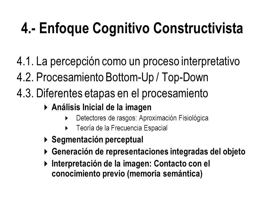 4.1.La percepción como un proceso interpretativo 4.2.