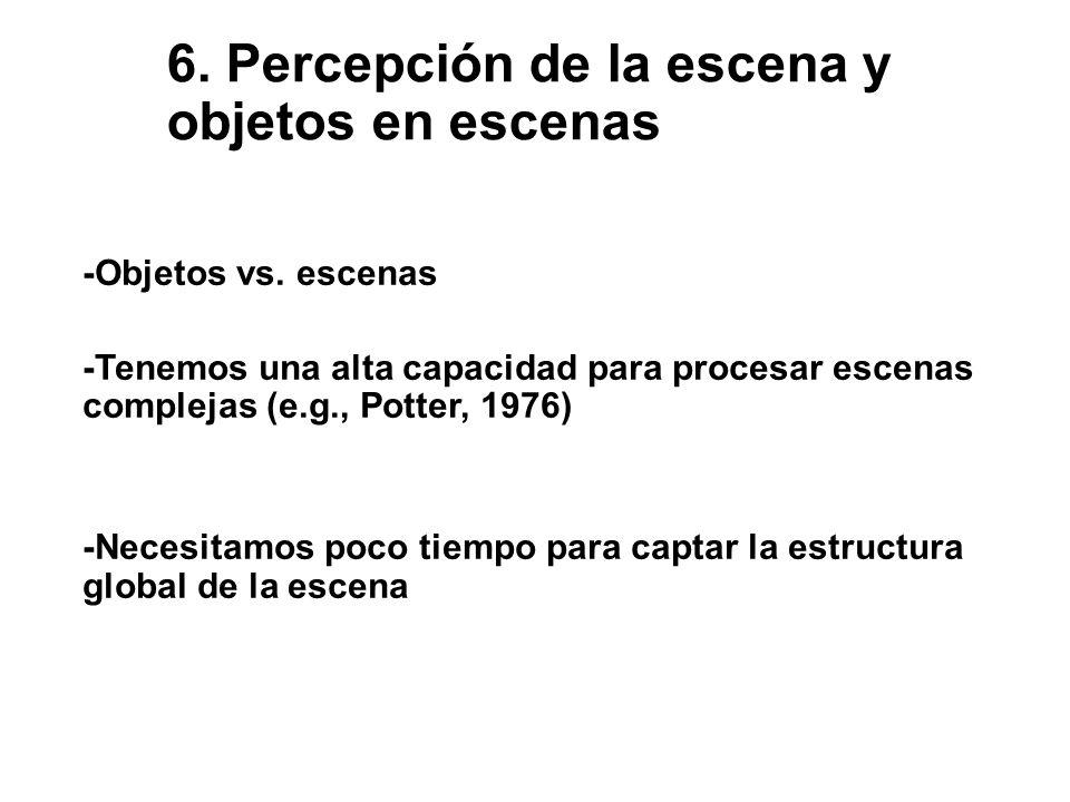 6.Percepción de la escena y objetos en escenas -Objetos vs.