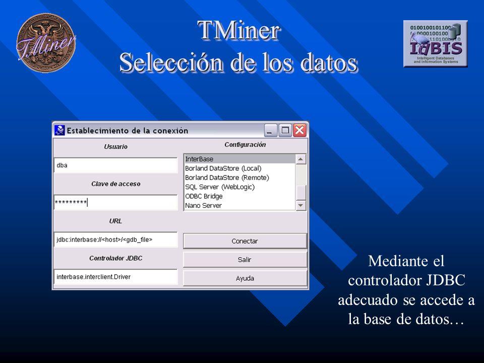 Mediante el controlador JDBC adecuado se accede a la base de datos…