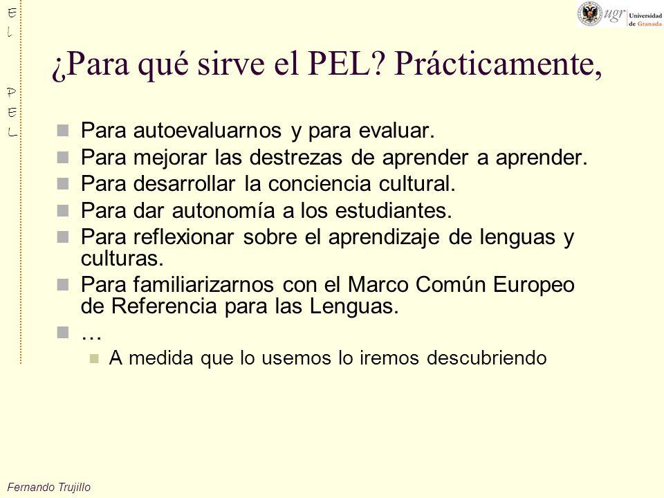 Fernando Trujillo ElPELElPEL ¿Para qué sirve el PEL.