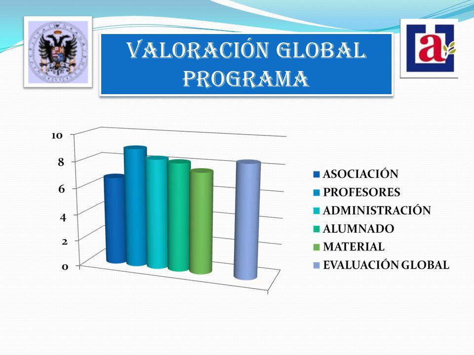 VALORACIÓN GLOBAL PROGRAMA VALORACIÓN GLOBAL PROGRAMA